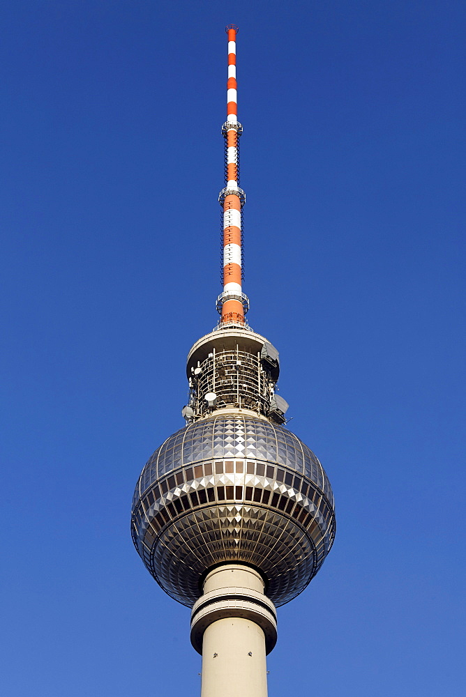 Berlin TV tower, spire and antenna system, Mitte district, Berlin, Germany, Europe