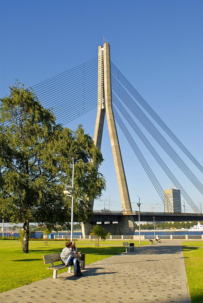 Vansu bridge in Riga, Latvia, Northern Europe