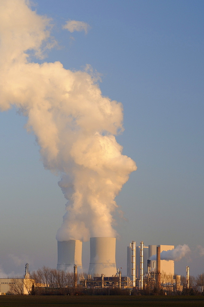 Coal power station and chemical plants, Saxony, Germany, Europe