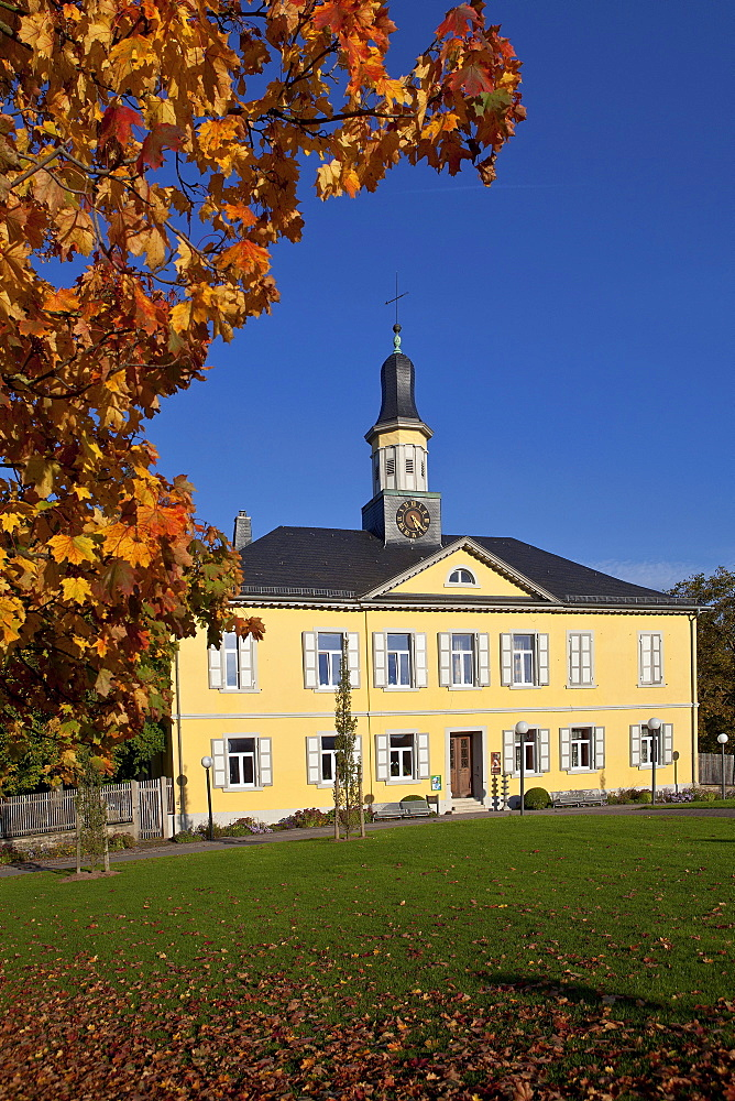 Former Saline building in the fall, Bad Rappenau, Baden-Wuerttemberg, Germany, Europe