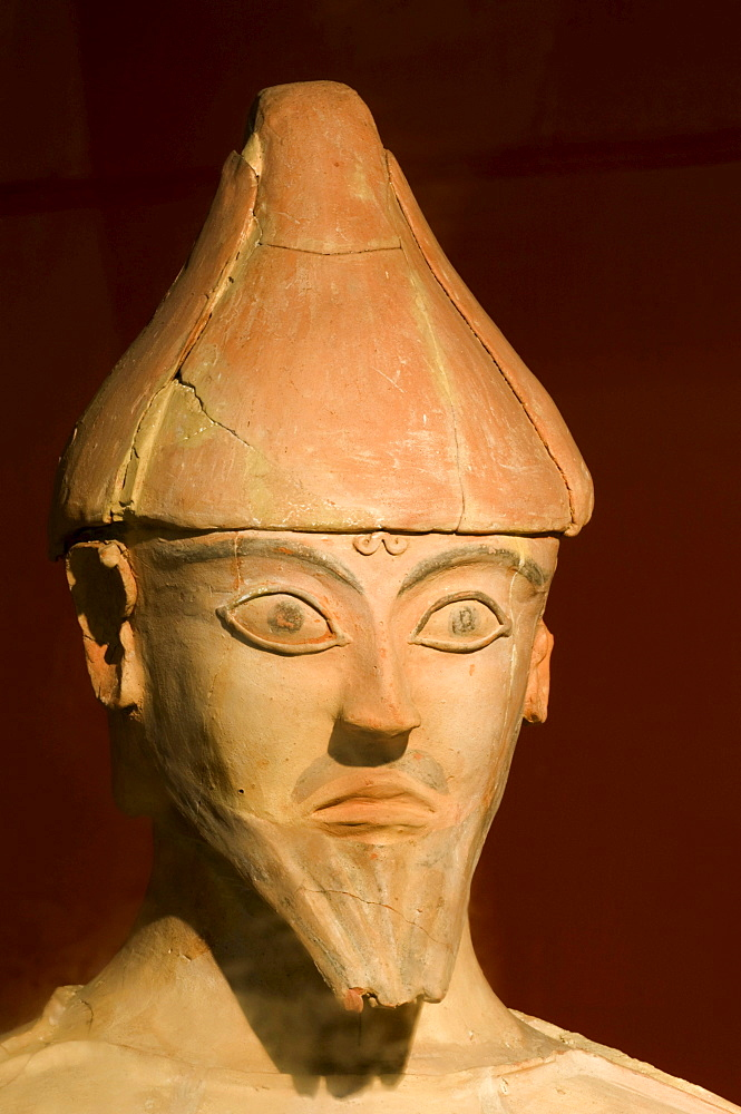 Terracotta statue found at Agia Irini, from the Bronze Age, National Museum, Nicosia, Nicosia, Nicosia, Cyprus