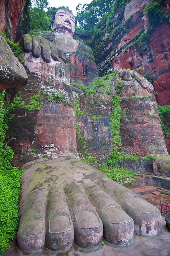 Largest Buddha in the world, Leshan, Sichuan, China, Asia