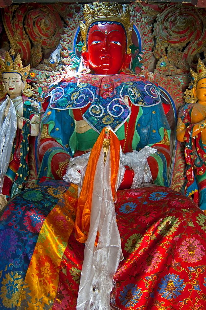 Buddha in the Kumbum of Gyantse Monastery, Gyantse, Tibet, Asia