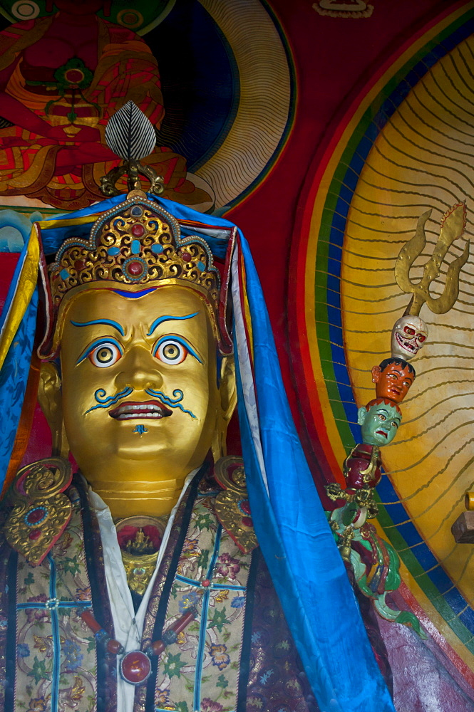 Buddhist statue in a temple, Lhasa, Tibet, Asia