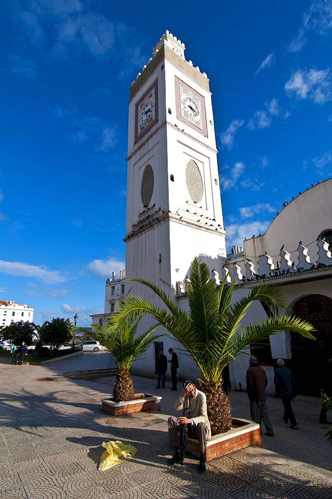 Mosque Jamaa-el-Jedid or Mosque of the Fishermen on Martyrs' Square in Algiers, Algeria, Africa