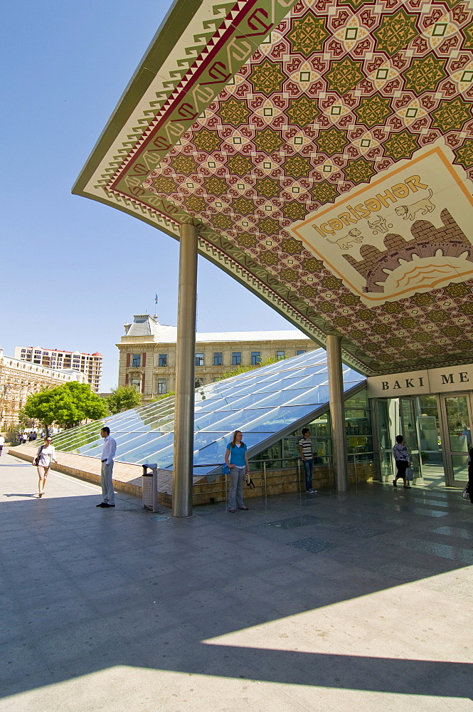 Roof of the metro station in Baku, Azerbaijan, Caucasus, Middle East