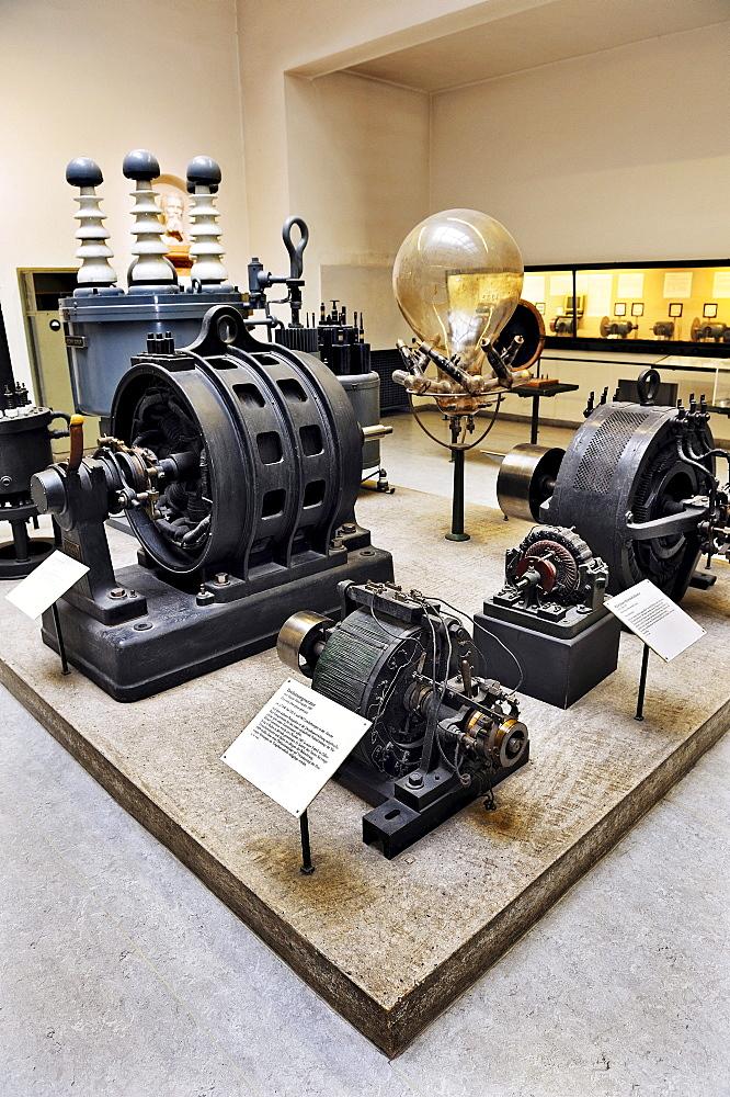 Alternators, Department of Power Engineering, Deutsches Museum German museum, Munich, Bavaria, Germany, Europe