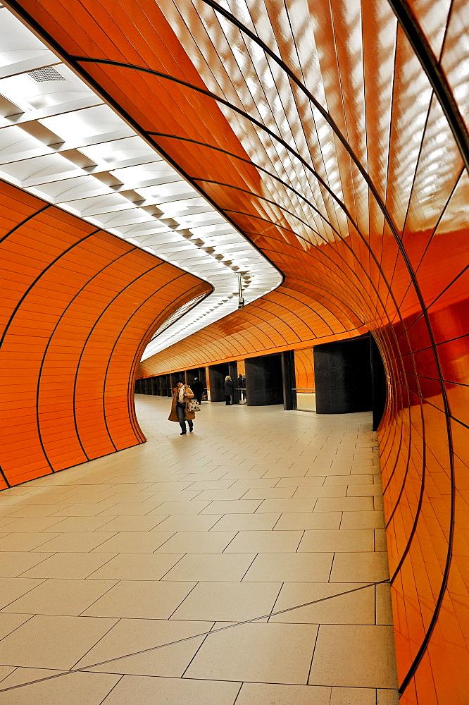 Marienplatz U-Bahn underground railway station, Munich, Bavaria, Germany, Europe