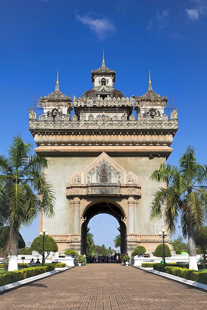 Patuxai Triumphal Arch, Vientiane, Laos, Southeast Asia
