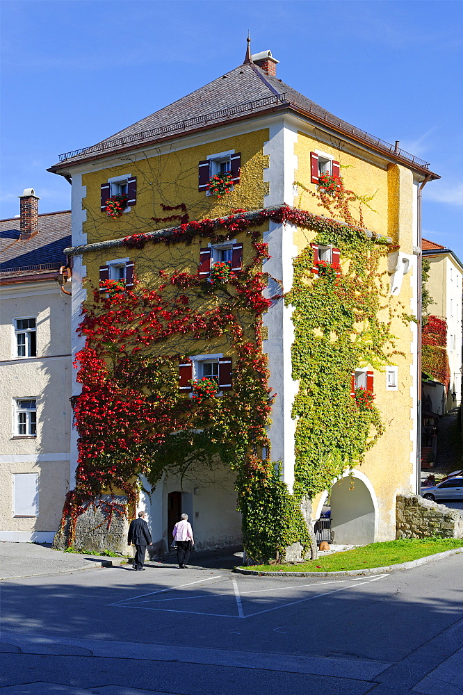 Unteres Stadttor city gate, Laufen, Upper Bavaria, Bavaria, Germany, Europe