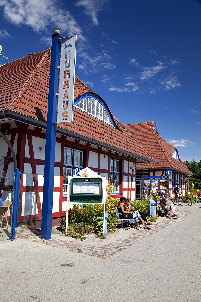 Spa hotel, tourist information, Baltic Sea spa of Zingst, Fischland Darss Zingst peninsula, Mecklenburg-Western Pomerania, Germany, Europe
