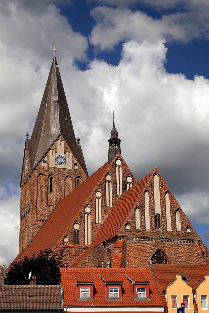 St. Marien brick church, Barth, Mecklenburg-Western Pomerania, Germany, Europe