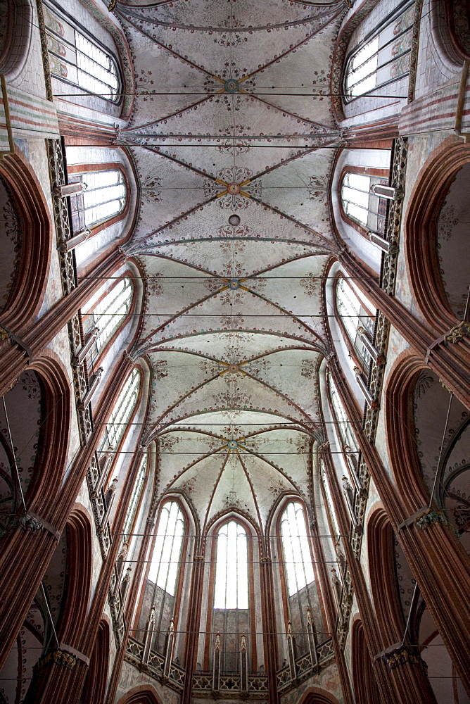 Vault, St. Mary's Church, Hanseatic City of Luebeck, Schleswig-Holstein, Germany, Europe
