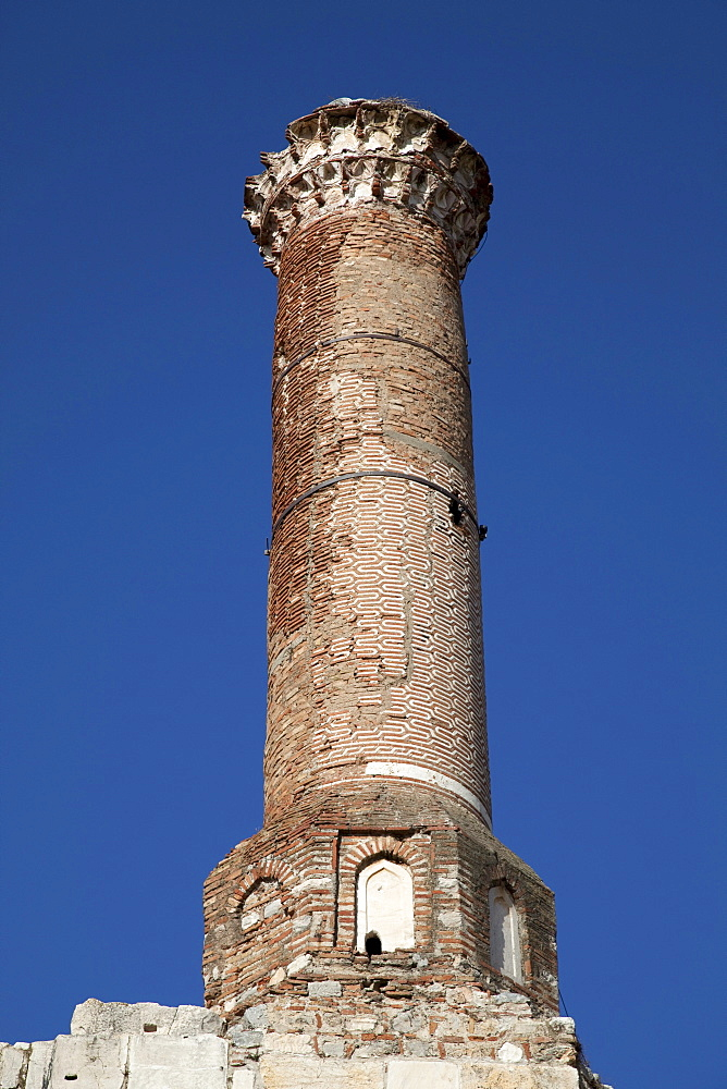 Tower of the Isa Bey Mosque, Selcuk, Lycia, Turkey, Asia