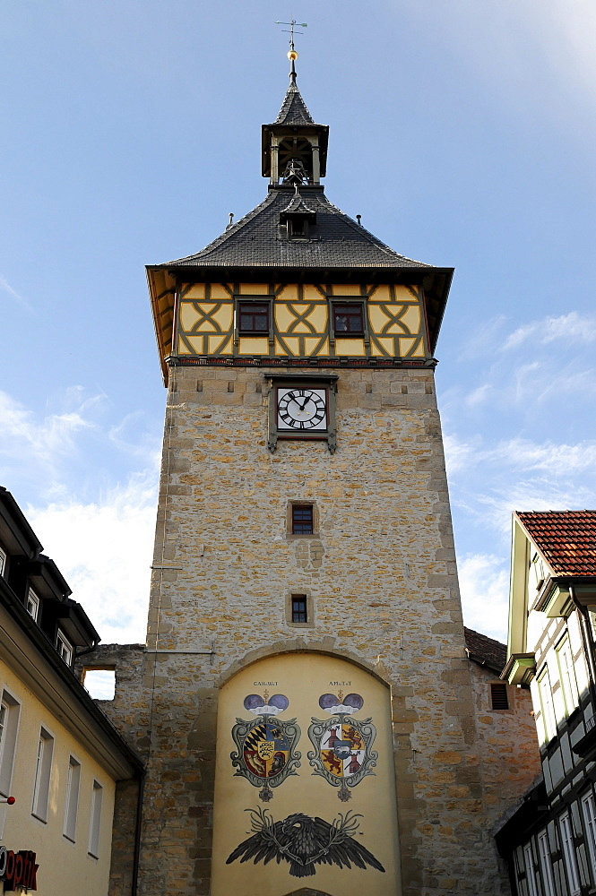 Upper Gate Tower, Marbach am Neckar, Baden-Wuerttemberg, Germany