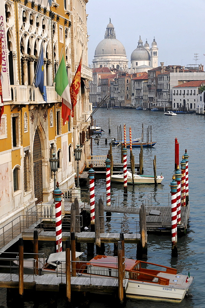 Canale Grande, looking towards the Church of Santa Maria della Salute, Venice, Veneto, Italy, Europe