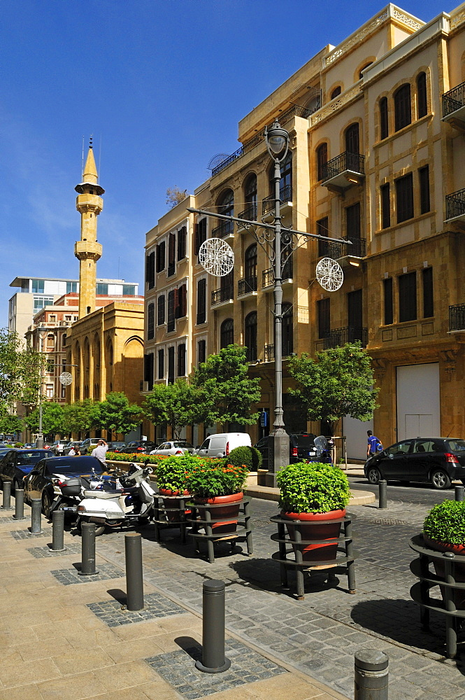 Buildings in the historic center of Beirut, Beyrouth, Lebanon, Middle East, West Asia