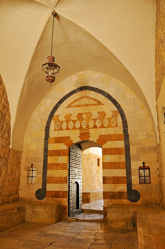 Entrance to historic Beit ed-Dine, Beiteddine Palace of Emir Bashir, Chouf, Lebanon, Middle East, West Asia
