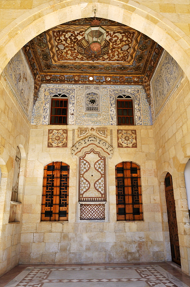 Detail of historic Beit ed-Dine, Beiteddine Palace of Emir Bashir, Chouf, Lebanon, Middle East, West Asia