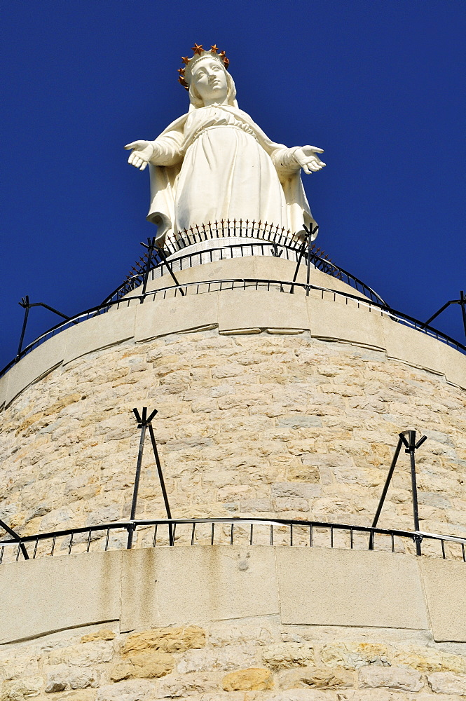 Maronite Our Lady of Lebanon St. Mary statue, Harissa, Lebanon, Middle East, West Asia