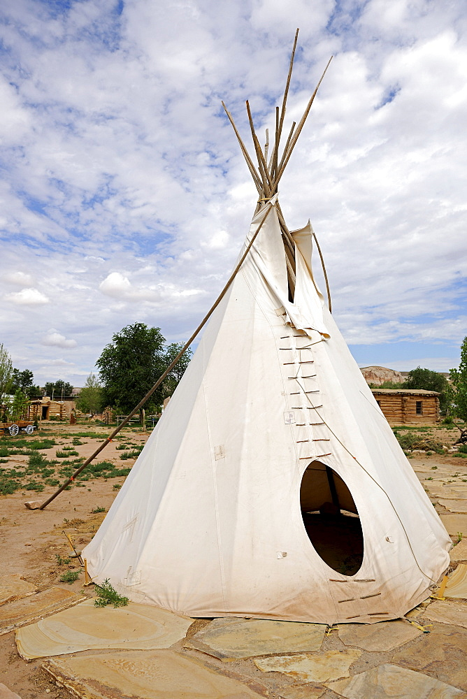 Replica of a tent of the Ute Indians, Bluff, Utah, USA, North America