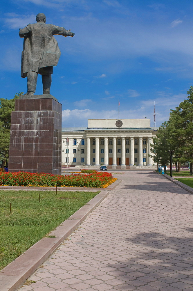 Statue of Lenin, Bishkek, Kyrgyzstan, Central Asia
