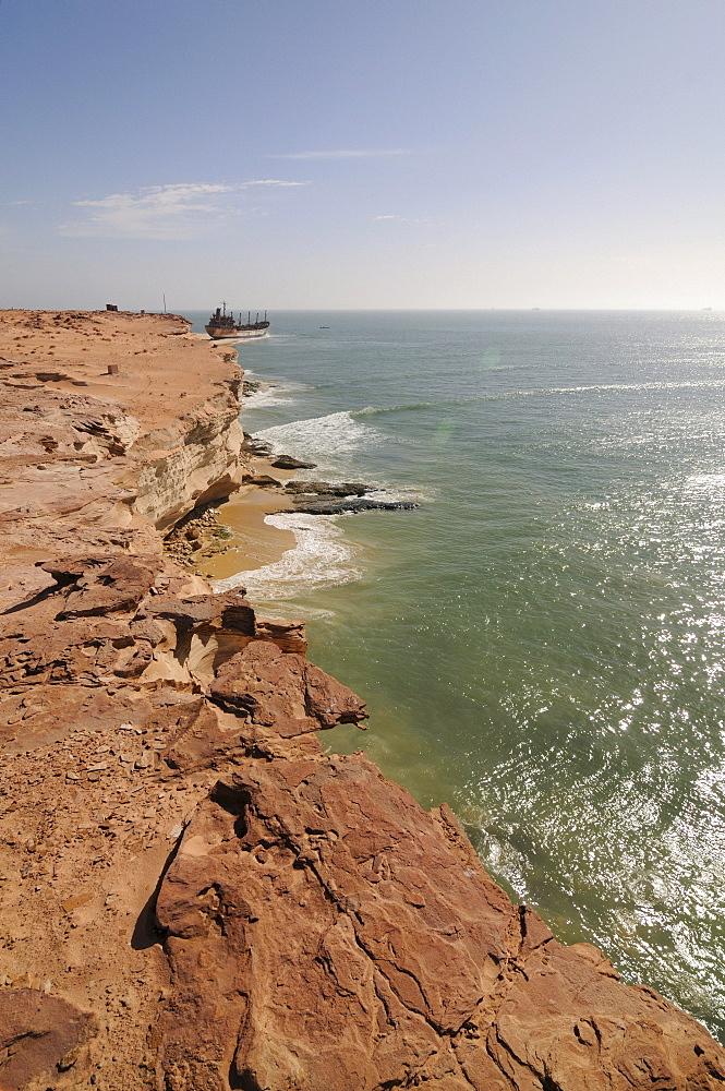 Sandstone cliffs of Cap Blanc, Nouadhibou, Mauritania, northwestern Africa