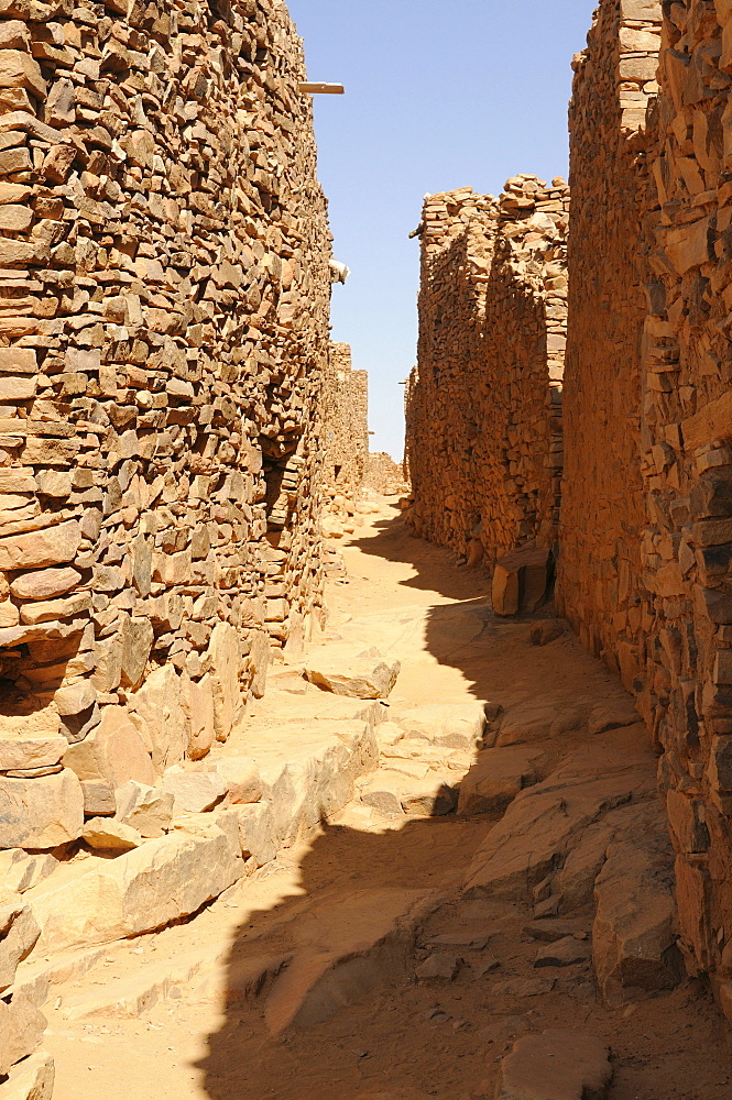 The ruins of the world heritage sight of Ouadane, Western Africa, Mauritania, Africa