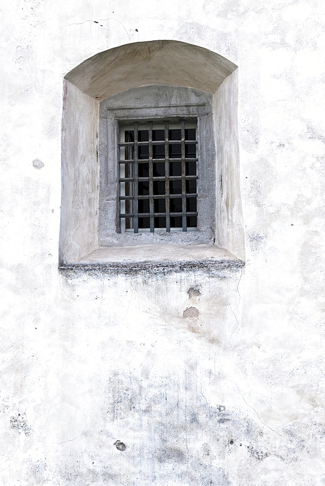 Window in a castle, Wuerzburg, Bavaria, Germany, Europe