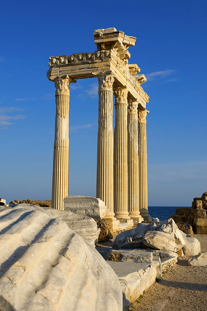Apollo Temple in Side, Turkish Riviera, Turkey