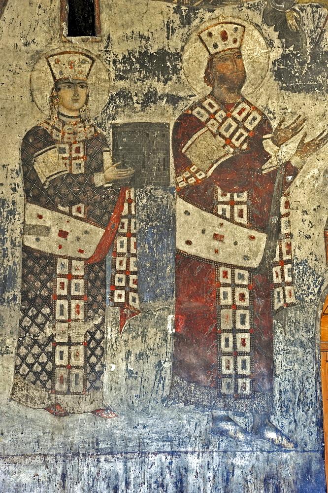 Fresco, Church of the Rock, Monastery of the Caves, Vanis Kvabebi, Mtkvari River Valley, Georgia, Western Asia