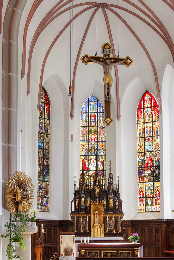 Carmelite Church of St. Aegyd, Bad Reichenhall, Berchtesgadener Land district, Upper Bavaria, Germany, Europe