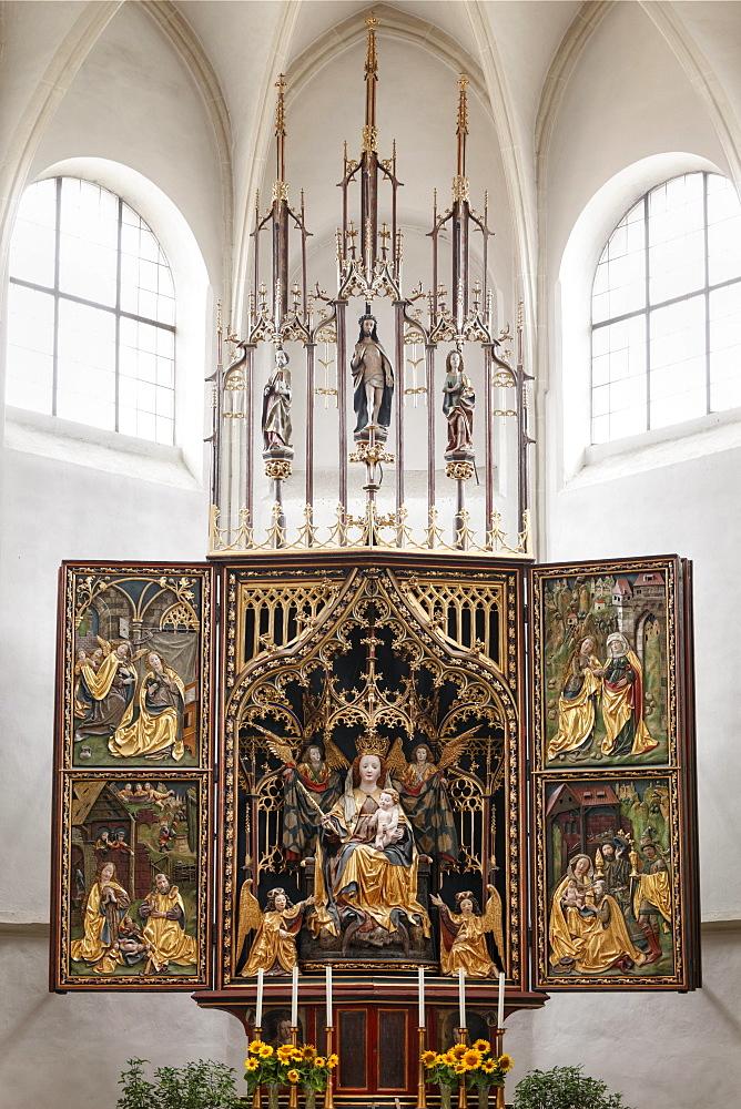 High altar, Pilgrimage Church of Maria Laach in Jauerling, Wachau, Waldviertel, Forest Quarter, Lower Austria, Austria, Europe