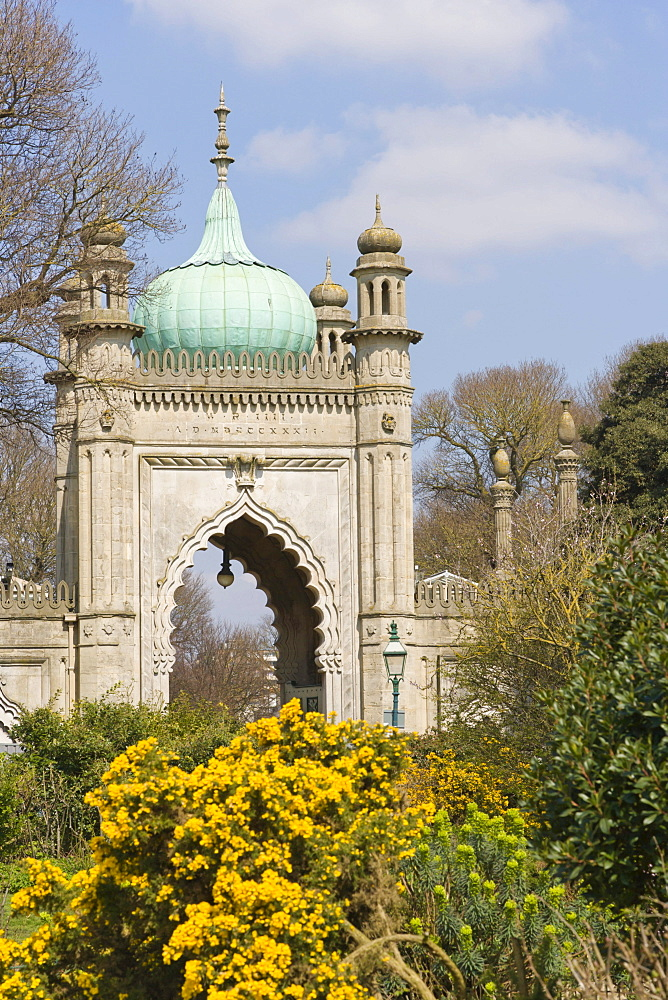 North Gate, Royal Pavilion, Brighton, East Sussex, England, United Kingdom, Europe