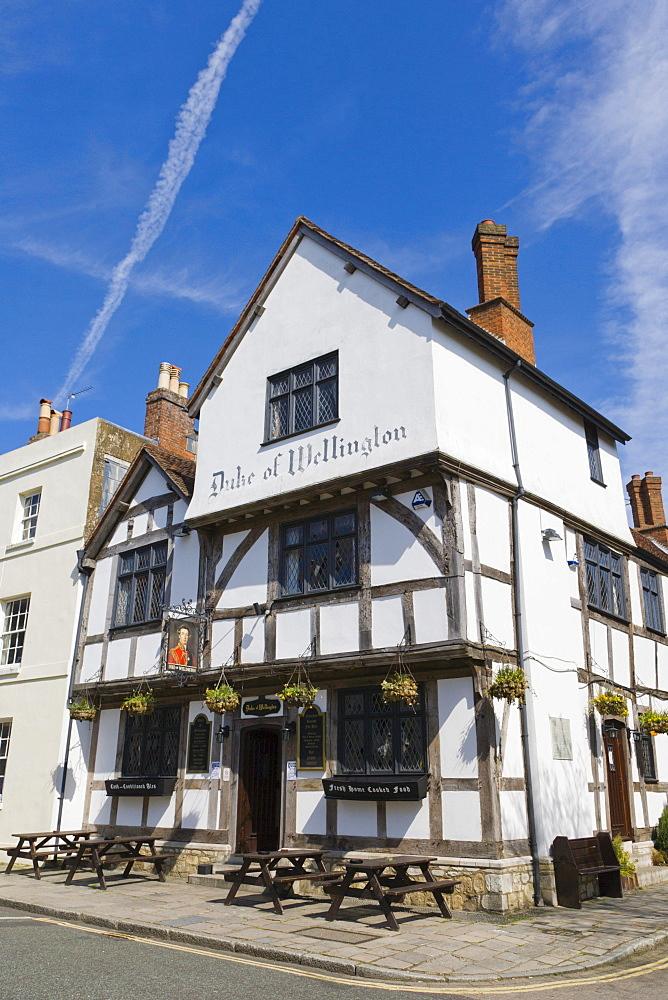 The Duke of Wellington Pub, Bugle Street, Old Town, Southampton, Hampshire, England, United Kingdom, Europe