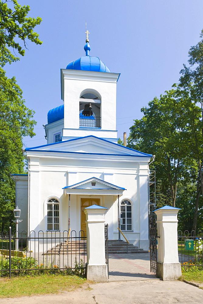 Rezekne Russian Orthodox church of the Birth of Holy Jesus' Mother, Atbrivosanas Aleja, Atbrivosanas Avenue, Rezekne, Latgale, Latvia, Northern Europe