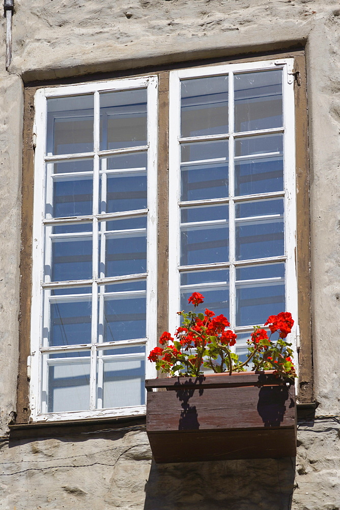 Window over Zviedru varti, Swedish gate, Troksnu iela, Troksnu Steet, old town, Vecriga, Riga, Latvia, Northern Europe