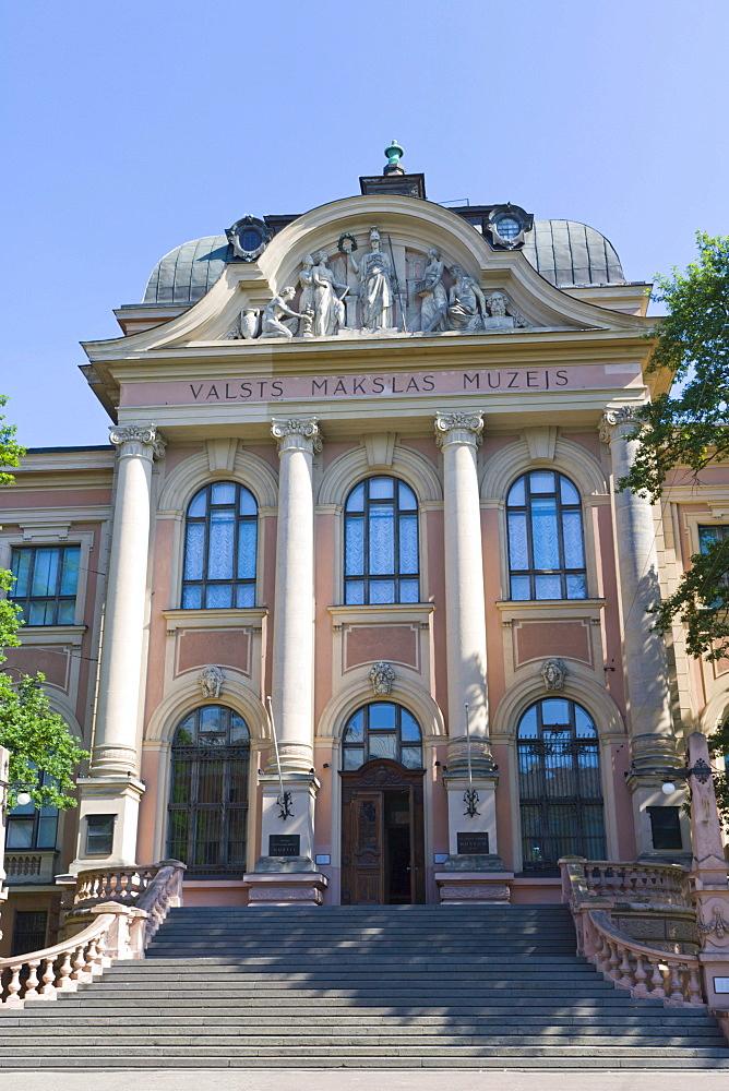 Valsts Makslas Muzejs, Latvijas Nacionalais Makslas Muzejs, Latvian National Museum of Art, Kr Valdemara iela, Kr Valdemara Street, Riga, Latvia, Northern Europe