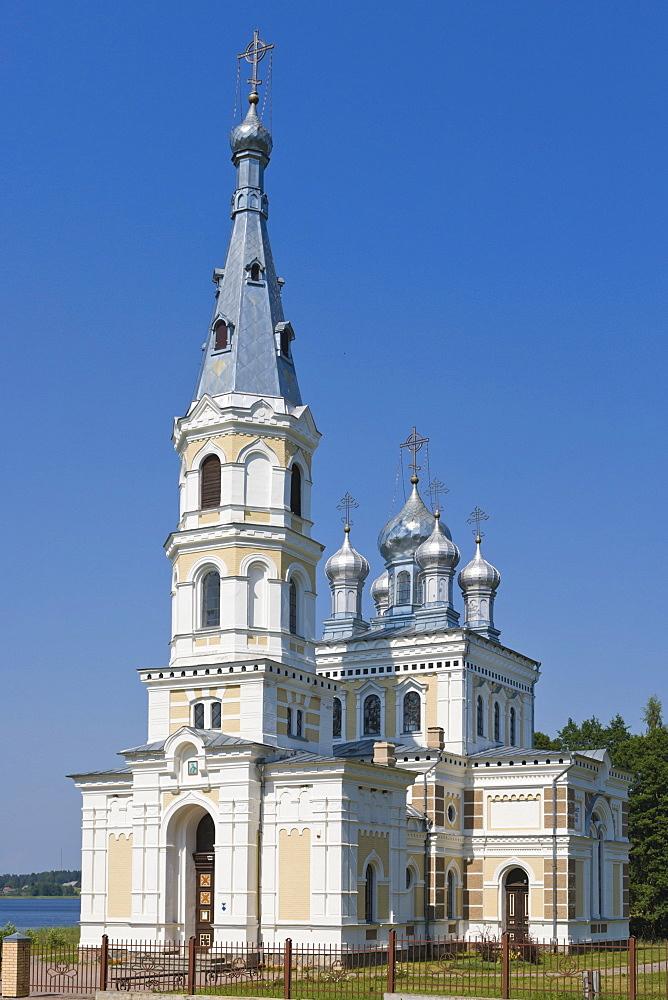 Stamerienas sveta Nevas knaza Aleksandra Baznica, Orthodox Church of St Alexander Nevsky, Stameriena, Gulbene Municipality, Vidzeme, Latvia, Northern Europe