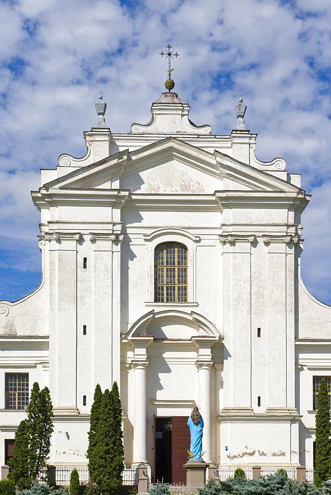 Kraslavas Sveta Ludviga Romas katolu baznica, Kraslava St Ludvig Roman Catholic Church, Baznicas iela Street, Kraslava, Latgale, Latvia, Northern Europe