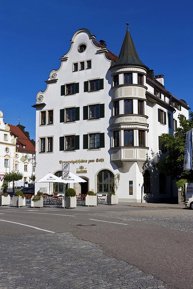 Brauereigaststaette zum Stift brewery and restaurant, Kempten, Lower Allgaeu, Allgaeu, Swabia, Bavaria, Germany, Europe