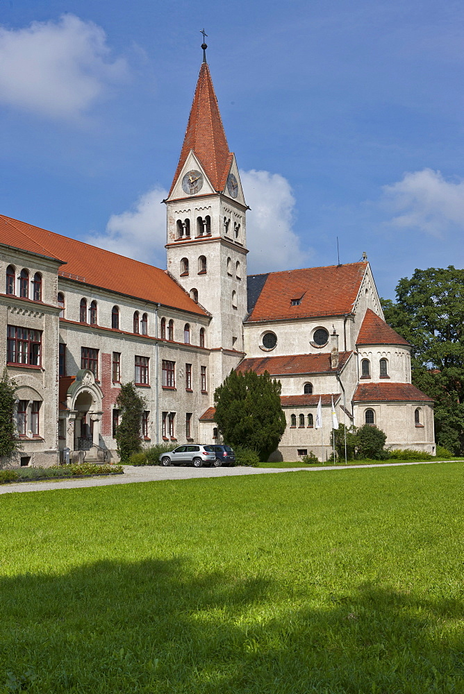 Lohhof Abbey, Kopass Hof Therapy Centre for drug treatment, Mindelheim, Swabia, Unterallgaeu district, Bavaria, Germany, Europe