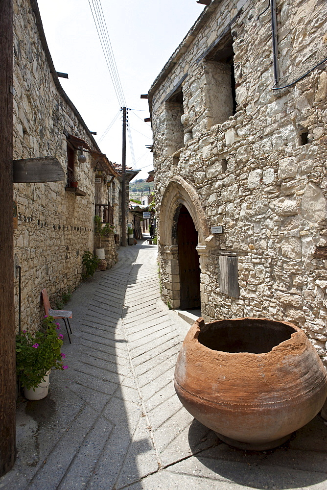 Alley in the village of Omodos, Troodos Mountains, Central Cyprus