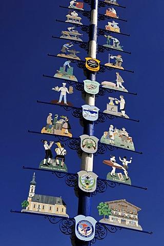 May pole, Reit im Winkl, Bavaria, Germany, Europe