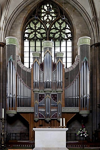 The organ at the Cathedral in Muenster, North Rhine-Westphalia, Germany, Europa