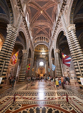Interior of Siena Cathedral, Siena, Tuscany, Italy, Europe