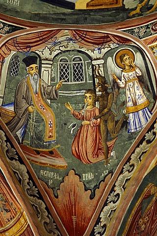 Fresco, Troyan Monastery, Bulgaria, Europe
