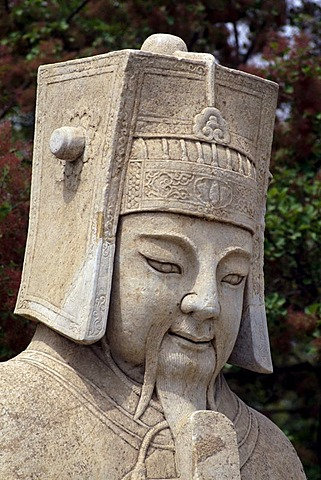 Civil servant, sculpture along the Spirit Way, Ming Tombs, UNESCO World Cultural Heritage Site, Peking, China Asia