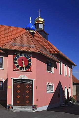 Orthodox Church of St. Nektarius of Aegina, Bischofsheim an der Rhoen, Rhoen-Grabfeld district, Lower Franconia, Bavaria,