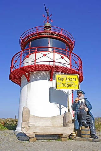 Mock lighthouse at Cape Arkona, Ruegen Island, Mecklenburg-Western Pomerania, Germany, Europe